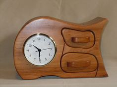 2drawer Cypress wood with Clock by Andersonwoodworks on Etsy, $80.00