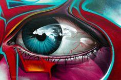 SMUG ONE, Street Art, eye, surreal, art, fantasy, beautiful, awesome, photo.