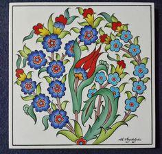 Turkish Tiles, Turkish Art, Islamic Tiles, Tile Art, Persian, Embroidery, Texture, Kaftan, Porcelain Ceramics