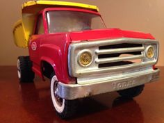 Vintage 60's Red and Yellow Tonka Dump Truck Nice Condition Clean #Tonka