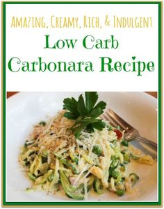 Low Carb Carbonara Recipe