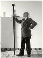 Great Sword is said to have belonged to Grutte Pier at the Fries museum in Leeuwarden 1953 - Pier Gerlofs Donia The tallest man Kimswerd Harlingen