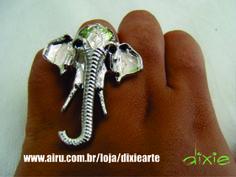 Anel Elefante Indiano  www.airu.com.br/loja/dixiearte