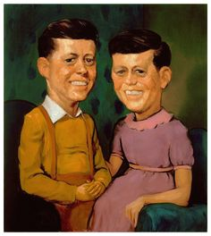 "John Currin - painting - "" the kennedys "" - 1996"