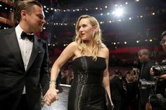 Leonardo DiCaprio Photos - Leonardo DiCaprio and Kate Winslet attend the Annual Academy Awards at Dolby Theatre on February 2016 in Hollywood, California. - Backstage at the 2016 Academy Awards Leonardo Dicaprio Kate Winslet, Leonardo Dicaprio Oscar, Leonardo Dicaprio Photos, Kate Winslet Oscar, Leonardo And Kate, Kate Winslet And Leonardo, Bff, Black Film Festival, Black Suit Wedding