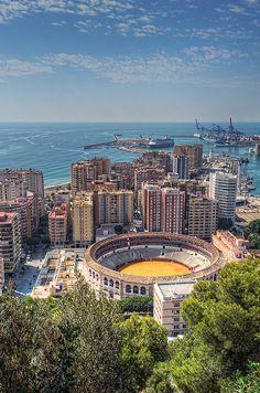 Plaza de toros de Málaga, España. Spain!