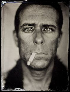 """Tintype by Michael Shindler.  He has a shop called """"Photobooth"""" where you can walk in and have your portrait taken.  This will be 1st on my list when I visit SanFran someday."""