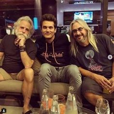 """""""Playin' in the Band"""" Bob Weir, John Mayer, Jeff Chimenti of Dead & Company! Grateful Dead Image, Grateful Dead Poster, Grateful Dead Music, John Mayer 2017, Bob Weir, Only In America, Dead And Company, Blues Rock, My Favorite Music"""