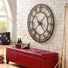 Kitchen wall clock decor family rooms ideas for 2019 Huge Wall Clock, Wall Clock Design, Large Wall Clocks, Big Clocks, Large Clock, Kitchen Wall Clocks, Clock Decor, Wall Decor, Classic House