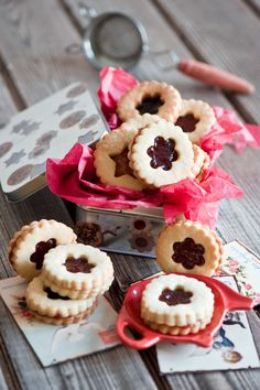 Christmas cookies with jam.