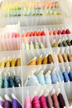 little lovelies: how to organize your embroidery floss part 2