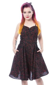 undefined Punk, Style Me, Black, Dresses, Red Black, Short Gowns, Cotton, Vestidos, Black People