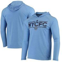96cc717ee New York City FC adidas Dassler Tactical Long Sleeve Hooded climaite T-Shirt  - Heathered Blue
