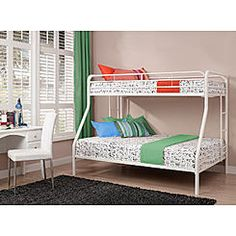Dorel Home Furnishings Twin Over Full Bunk Bed White