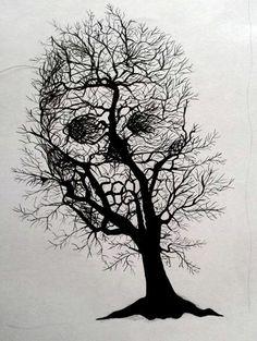 Skull tree by Vytenis62 on @DeviantArt
