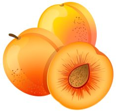 Large Painted Apricot PNG Clipart