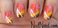 painted fingernails | Nail Nerd (nail art for nerds) » Purdy Colorful Paint Nails