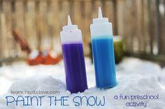 Paint the Snow Activity | LearnCreateLove.com