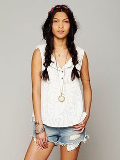 Free People FP New Romantic Sleeveless Texture Tank at Free People Clothing Boutique