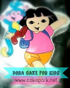 """Every kid and teen knows about the """"dora cakes"""" from Doraemon which is popular all around the world, their mouths water over it , here comes the Customized Dora #cake from #CakePark.  Place order online @ http://www.cakepark.net/dora-cp64.html or reach us @ 9444915533 #customizedcakes #chennai #bakery"""