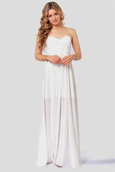 Cool sexy white maxi dresses 2018-2019