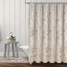 Colordrift Wildflower Shower Curtain Collection