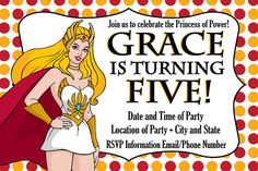 Custom Made He-Man and She-Ra Birthday Party by JessiesLetters