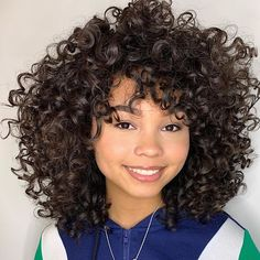 Top 10 Best Curly Haircuts Of 2019 Naturallycurly Com Top 10 Best Curly Haircuts Of 2019 Naturallycurly Com 30 Curly Haircuts That Will Bring Back Your Bounce P Layered Curly Haircuts, Short Layered Curly Hair, Best Curly Haircuts, Cute Hairstyles For Medium Hair, Curly Hair With Bangs, Colored Curly Hair, Curly Hair Cuts, Short Hair Cuts, Curly Hair Styles
