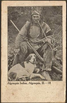 Rare Photo of an Algonquin Indian