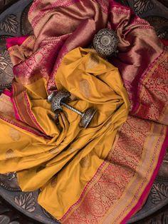 Sacred Weaves - Shop for Exquisite Banarasi Sarees Online Dhakai Jamdani Saree, Kanjivaram Sarees Silk, Pattu Saree Blouse Designs, Half Saree Designs, Wedding Saree Collection, Merian, Saree Photoshoot, Saree Trends, Elegant Saree