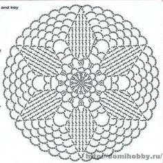 Motif Mandala Crochet, Crochet Doily Diagram, Crochet Pillow Pattern, Crochet Circles, Crochet Doily Patterns, Crochet Squares, Crochet Chart, Crochet Doilies, Crochet Flowers