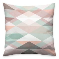 Almofada Multiple Triangles Pastel - Decohouse
