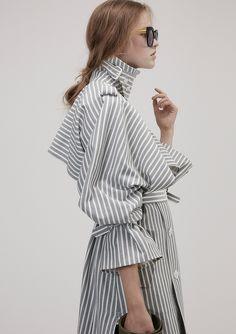 Gray Pinstripes | STYLEBOP
