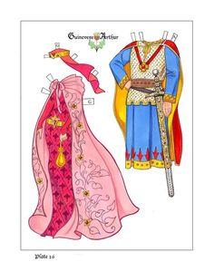 Koning Arthur papieren poppetjes
