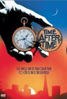 Time After Time(1979): Malcolm McDowell plays the Science Fiction writer, H.G. Wells who has invented a time machine. When he discovers that his good friend is Jack the Ripper (played by David Warner) and sets out to catch him. Jack the Ripper hijacks the time machine to transport himself to 1979 San Francisco, and Welles follows in hot pursuit. Welles encounters a world that he had only imagined in his books, meeting a cute bank teller (played by Mary Steenburgen) who helps him on his…