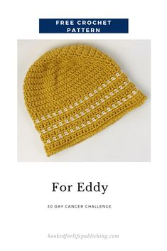 For Eddy - Hooked for Life Crochet Toddler Hat, Chunky Crochet Hat, Crochet Hat With Brim, Crochet Winter Hats, Crochet Baby Hat Patterns, Crochet Beanie Pattern, Quick Crochet, Unique Crochet, Free Crochet