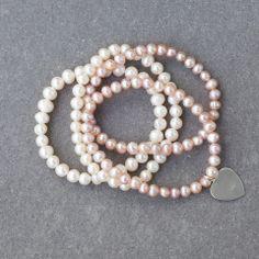 Dreamy Pink Bracelet Pearl Necklace, Label, Pearls, Bracelets, Pink, Collection, Jewelry, Fashion, Moda