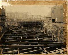 New York Independent Subway Construction: Ground level January 1931