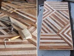 Beautiful geometric coffee table wood project! brooklyn to west: T H E T A B L E S