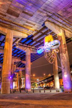 art under a bridge - richmond, va