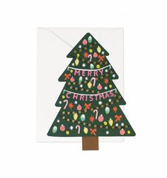 Your Gift Girls: Coveted Christmas Greeting Cards. Christmas Tree Greeting Card - Rifle Paper Co.