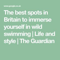 The best spots in Britain to immerse yourself in wild swimming Norfolk Broads, Feeling Sleepy, South Devon, Cairngorms, Local Parks, Dartmoor, Best Investments, Park City