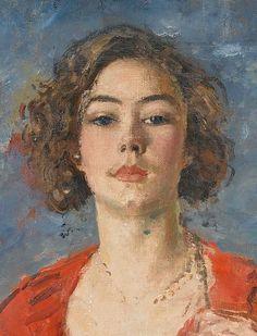 Augustus Edwin John, post-impressionist Welsh painter, Portrait of Poppet, the artist's daughter