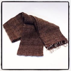 Handwoven scarf/ ultra soft selection of fibers make up this hand loomed fabric handmade in Brooklyn,NY for any man or woman. 5.5 wide