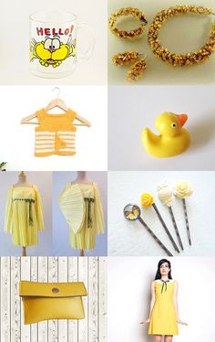 Yellow by decoratore on Etsy--Pinned+with+TreasuryPin.com