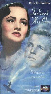 "To Each His Own....1946...this is the movie that introduced me to the word ""MALARKEY"""