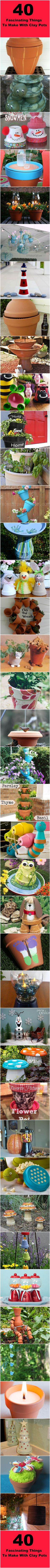 40 Fascinating Things To Make With Clay Pots