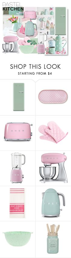 """"" PASTELS "" KITCHEN DECOR"" by beleev ❤ liked on Polyvore featuring interior, interiors, interior design, home, home decor, interior decorating, Smeg, PiP Studio, Kate Spade and ZAK"