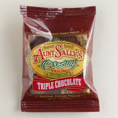 One of my favorite discoveries at WorldMarket.com: Aunt Sally's Triple Chocolate Creamy Pralines