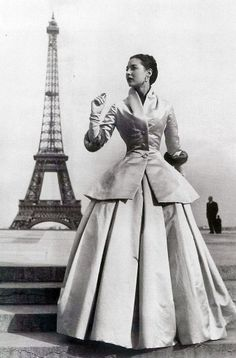 'Zemire' modeled by Dior house model Renee. Paris, 1954. Photograph by Regina Relang.